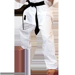 Martial Arts Single Weave Judo Pants with Drawstring Waist