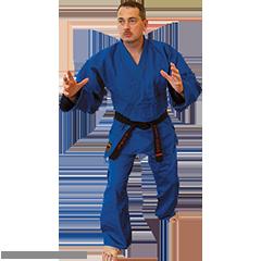 Martial Arts Blue Hayashi Single Weave Judo Uniform