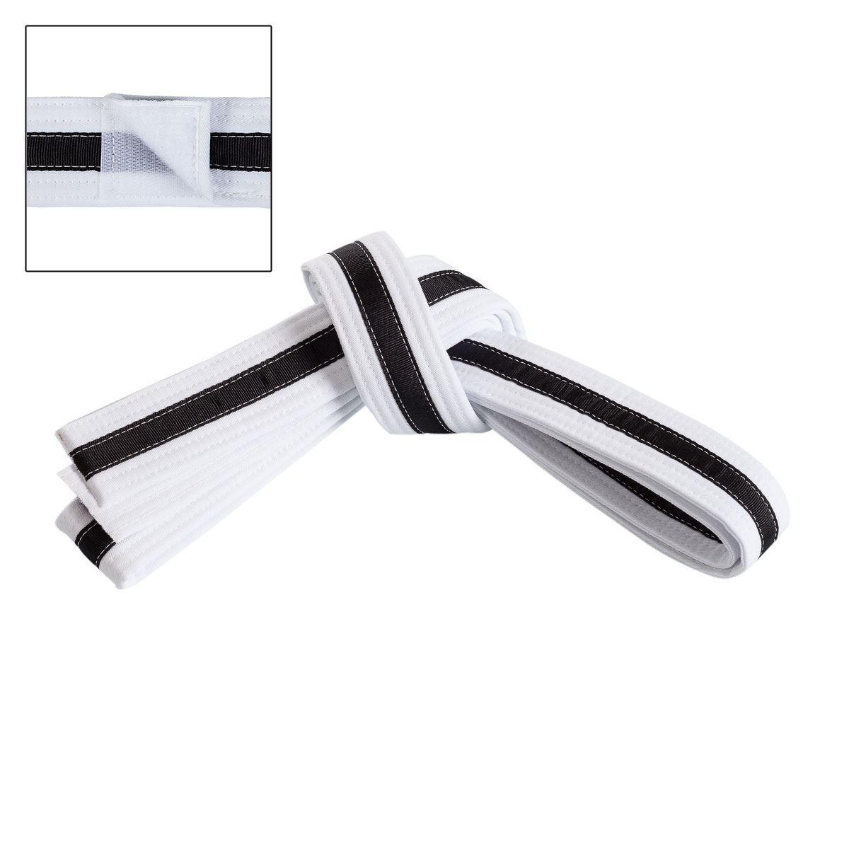 Adjustable Black Stripe Belt