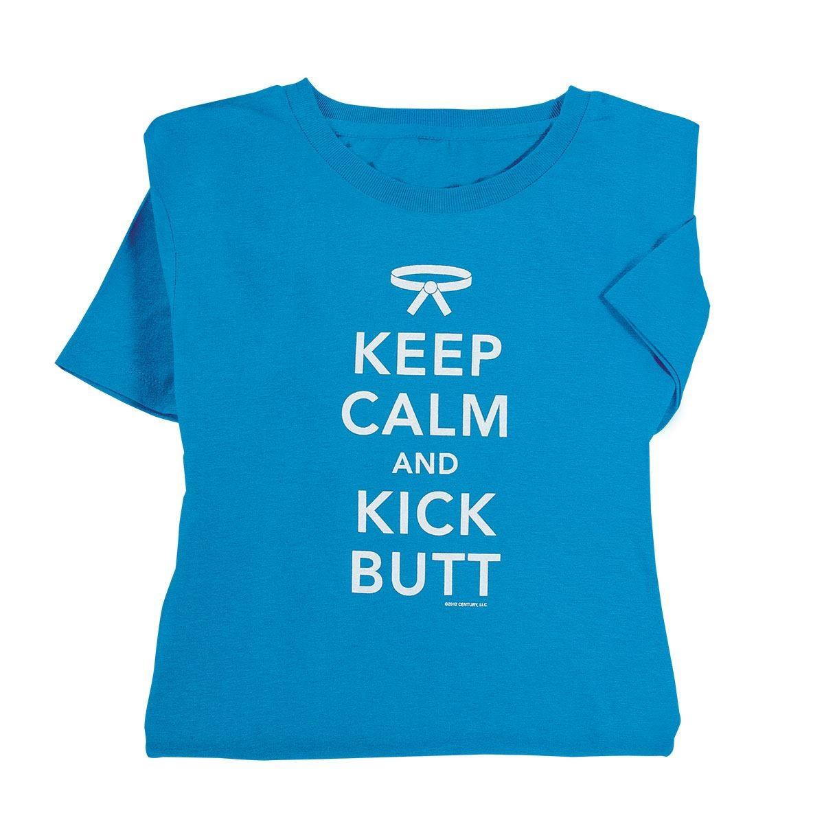 Martial Arts Karate  Keep Calm and Kick Butt T-Shirt