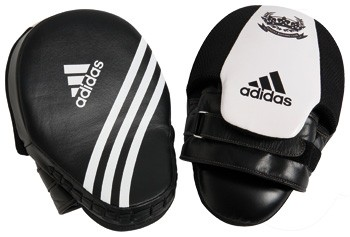 Adidas Professional Short Focus Punching Mitts (ADIBAC013-BK-WH)