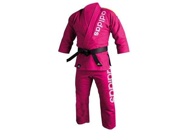 Adidas Pink Brazilian Jiu-Jitsu Traditional Cut Kimono Uniform (JJ-BRAZ-TC-PNK)