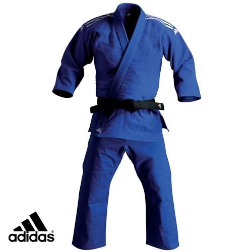 Adidas Blue Elite Judo Gi Uniform without Stripes (J730-BU)