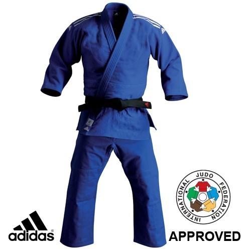 Adidas Blue Judo Champion Gi Uniform (J930-ST-BU-IJF)