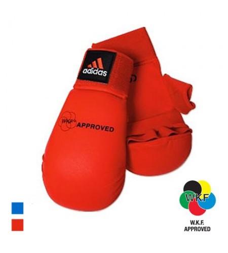 Adidas WKF Blue Karate Mitts W/ Thumb Slot
