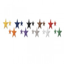 One Inch Star Patches (10 Pack)