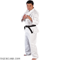 Bleached White Hayashi Single Weave Judo Uniform