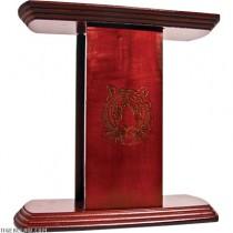 Table Top 10 Belt Display with Laser Ingraved Tiger