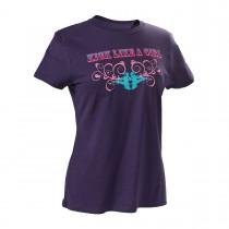Martial Arts Kick Like a Girl Swirl Design T-Shirt