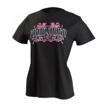 Martial Arts Ladies Krav Maga Floral Design T-Shirt