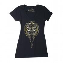 Sanbon V-Neck Lion Women's T-Shirt