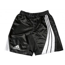 Adidas Fit Board MMA Fight Shorts Satin (ADISMMA02-BK/WH)