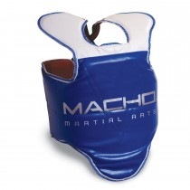 Macho Taekwondo Competition Hogu Chest Protector (Blue)